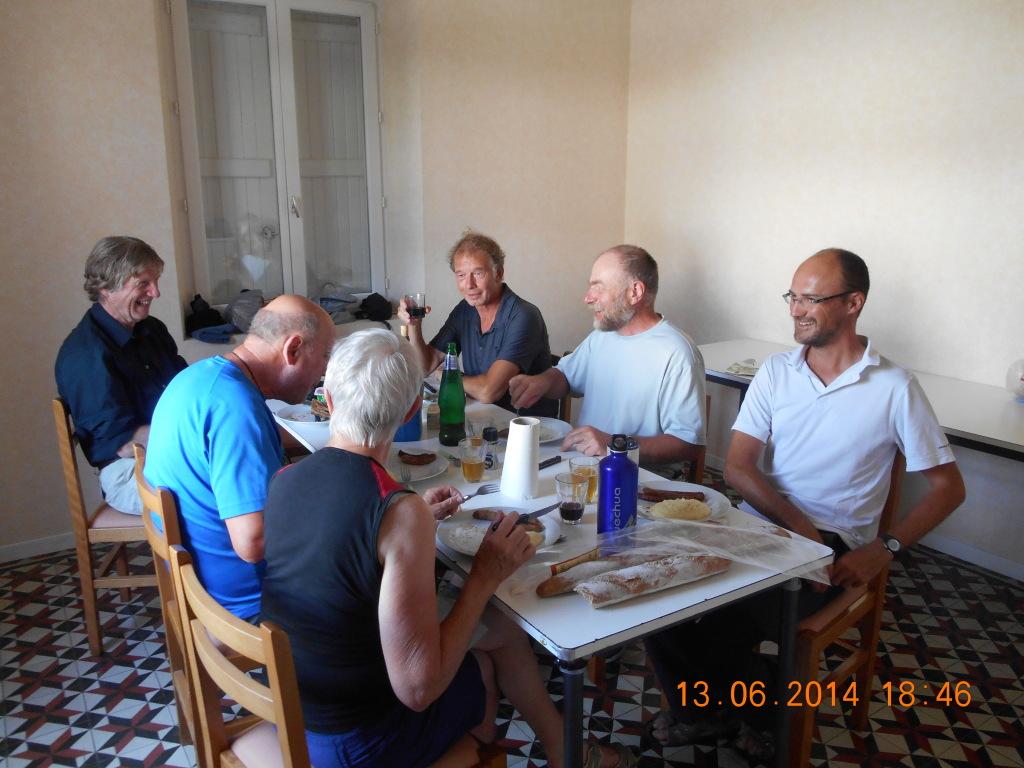 Samen met de Fransen eten in de gîte