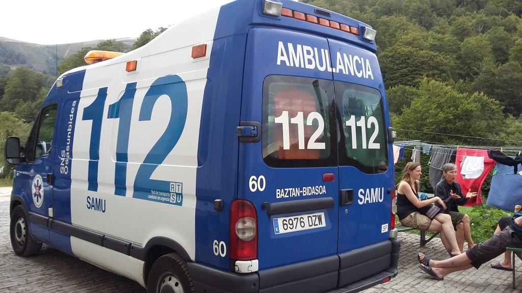 Een van de ambulances