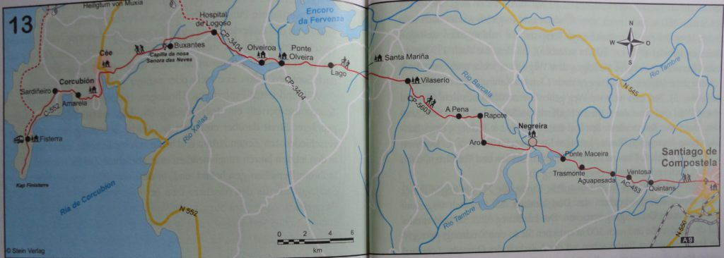 route Camino Fisterra