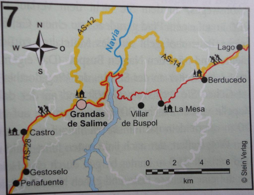 van Berducedo naar Castro