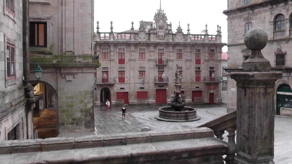 Praza das Praterías met Fonte da Caballos
