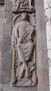 Koning David met lier