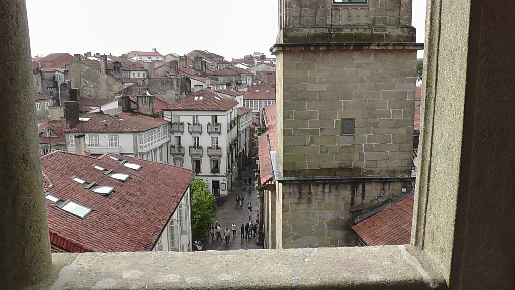 Rúa do Franco vanaf de balkonrij