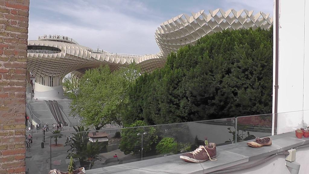 Dakterras hostal, uitzicht op Las Setas