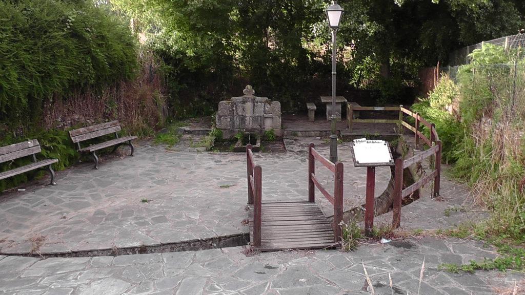 bron met rustplaats in Burgo