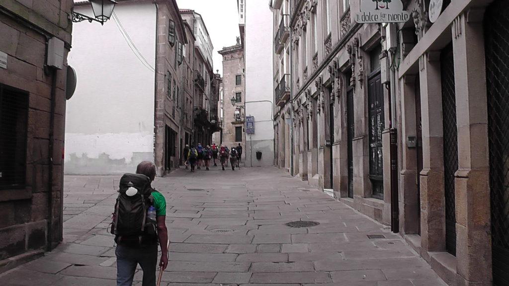 Rúa das Casa Reais naar de Praza de Cervantes