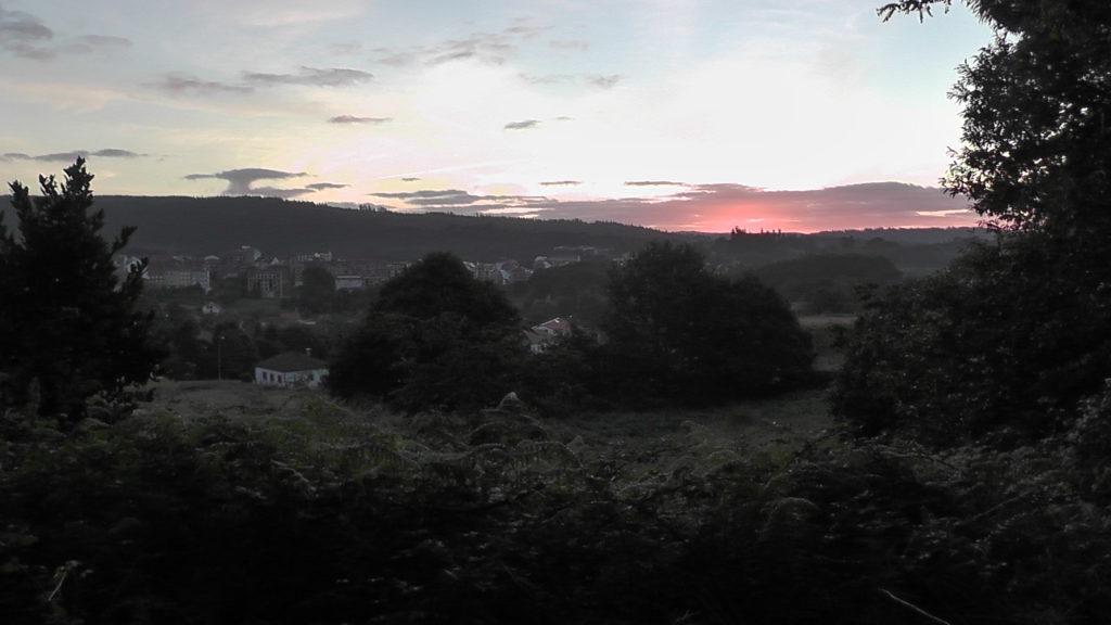 zonsopkomst boven Negreira